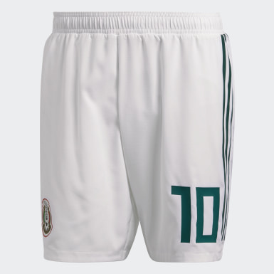 Shorts Mexico Home Authentic Blanco Hombre Fútbol