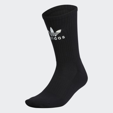 Men's Originals Black Reflective Crew Socks