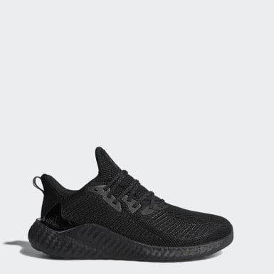 Men Running Black Alphaboost Shoes
