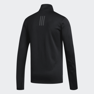Men Running Black Response Climawarm 1/4 Zip Tee