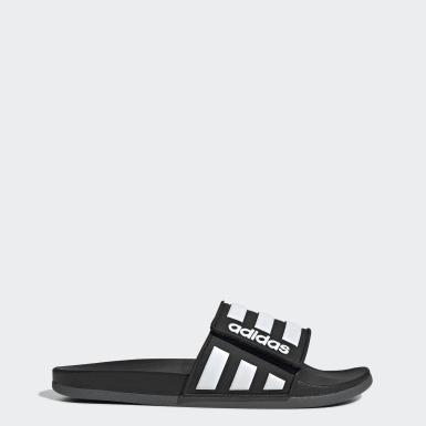 ว่ายน้ำ สีดำ รองเท้าแตะ Adilette Comfort Adjustable