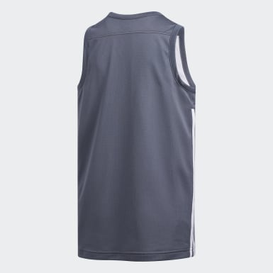 Kinderen Basketbal Grijs 3G Speed Reversible Shirt