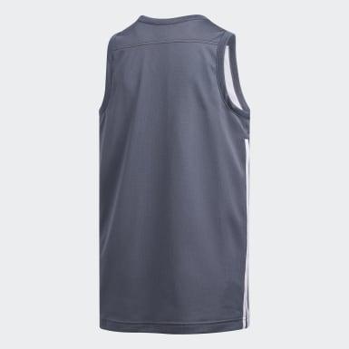 Børn Basketball Grå 3G Speed Reversible trøje