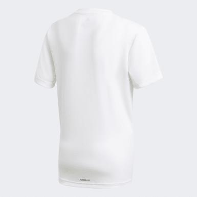 T-shirt adidas Designed To Move Big Logo blanc Adolescents Entraînement