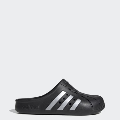 Swim Black Adilette Clogs