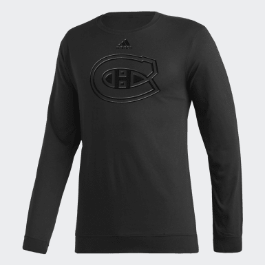 Men Hockey White CANADIENS PRIMARY HD LOGO LIGHTWEIGHT FRENCH TERRY CREW