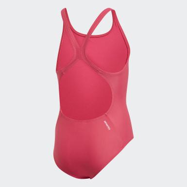 Mädchen Schwimmen Solid Fitness Badeanzug Rosa