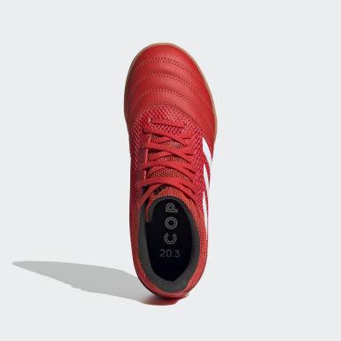 Calzado de Fútbol Copa 20.3 Cancha Cubierta Fútsal Rojo Niño Fútbol