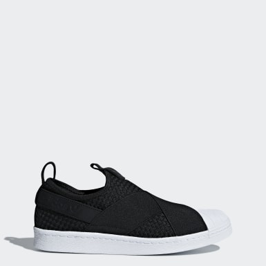 Men Originals Black Superstar Slip-on Shoes