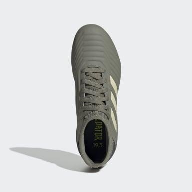 Calzado de Fútbol Predator 19.3 Terreno Firme (UNISEX) Verde Niño Fútbol