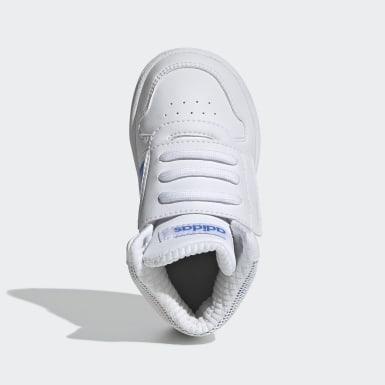 Tenis Hoops Mid 2.0 (UNISEX) Blanco Niño Essentials