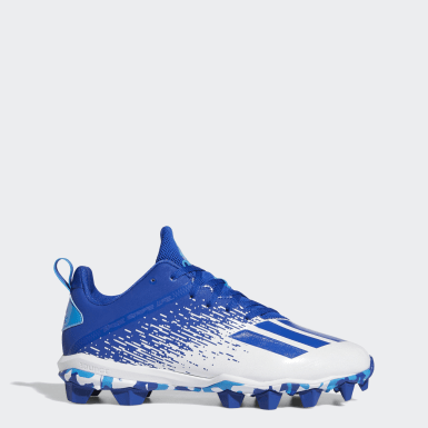 Men's Football Blue Adizero Spark Molded Cleats