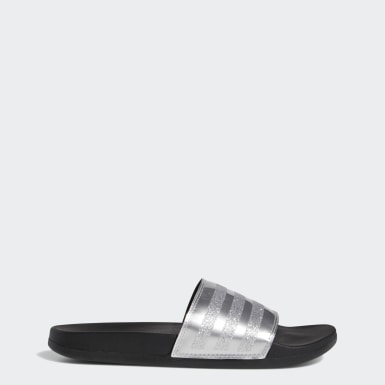 Women's Essentials Silver Adilette Comfort Slides