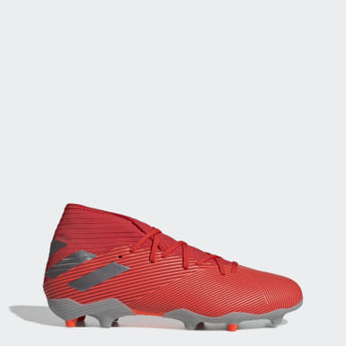 Zapatos de Fútbol Nemeziz 19.3 Terreno Firme Rojo Hombre Fútbol