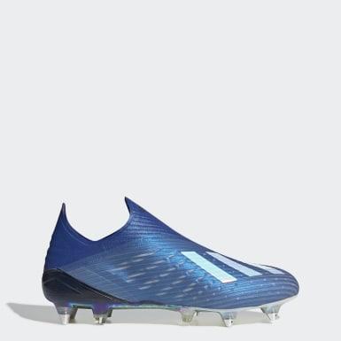Zapatos de Fútbol X 19+ Terreno Suave Azul Hombre Fútbol