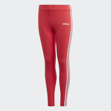 Youth 8-16 Years Athletics Pink Essentials 3-Stripes Leggings