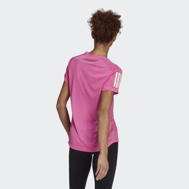 Women Running Pink Own the Run Tee