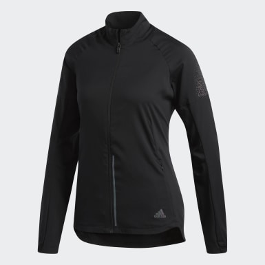Chamarra Supernova Confident Three Seasons Negro Mujer Running