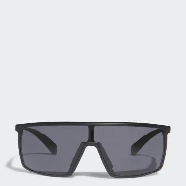 Padel-Tennis SP0004 Shiny Black Injected Sportsonnenbrille Schwarz