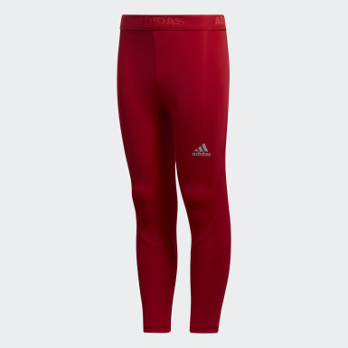Youth Training Red Alphaskin Baselayer Long Tights