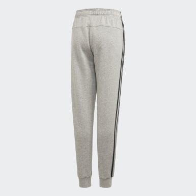 Pantaloni Essentials 3-Stripes Grigio Ragazzo Athletics