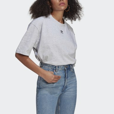Women's Originals Grey LOUNGEWEAR Adicolor Essentials Tee
