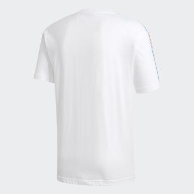 ผู้ชาย Originals สีขาว เสื้อยืด Adicolor 3D Trefoil 3-Stripes