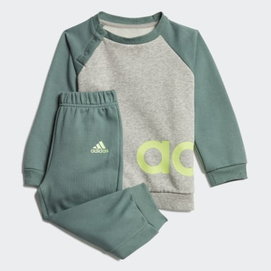 Kids Athletics Grey Linear Fleece Jogger Set