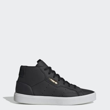 Ženy Originals čierna Tenisky adidas Sleek Mid
