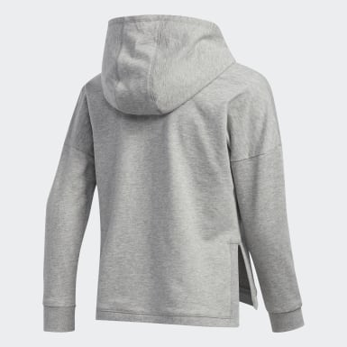 Youth Training Grey Badge of Sport Hoodie