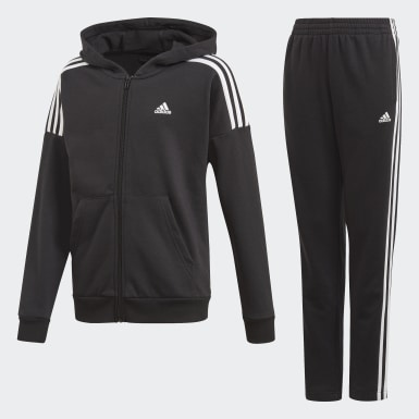 Youth 8-16 Years Training Black Tracksuit