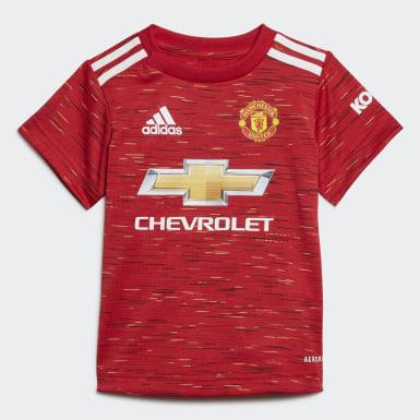 Ensemble bébés Manchester United 20/21 Domicile Rouge Enfants Football