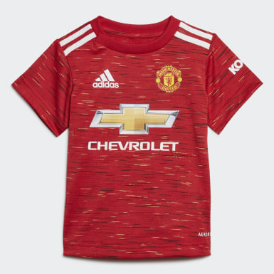 Barn Fotboll Röd Manchester United 20/21 Home Baby Kit