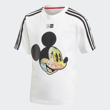 T-shirt Disney Mickey Mouse Blanc Garçons Training