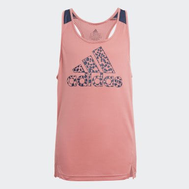 adidas Designed To Move Leopard Tank Top Różowy