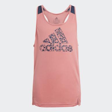 Dievčatá Athletics ružová Tielko adidas Designed To Move Leopard