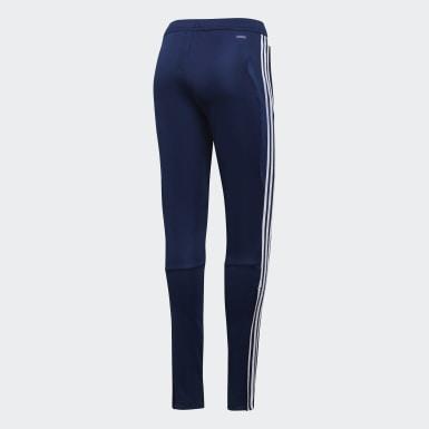 Ženy Fotbal modrá Kalhoty Tiro 19 Training