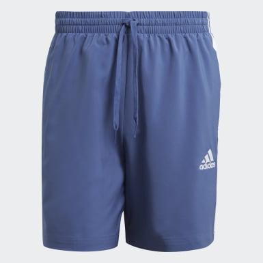 Shorts Essentials Chelsea 3 Franjas AEROREADY Azul Hombre Diseño Deportivo