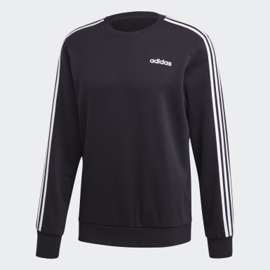 Mænd Athletics Sort Essentials 3-Stripes trøje