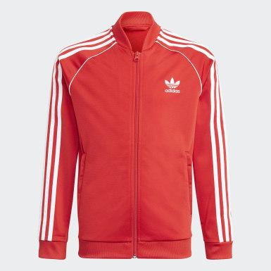 Děti Originals červená Sportovní bunda Adicolor SST