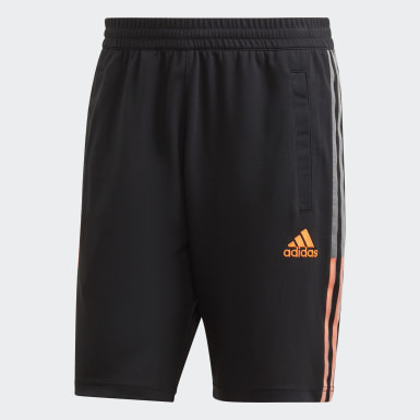 Men Football Black Juventus Travel Shorts