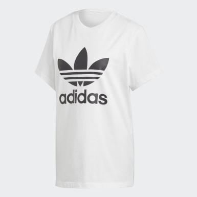 T-shirt Boyfriend Trefoil Bianco Donna Originals