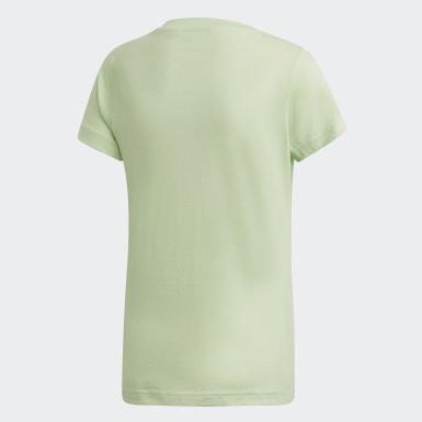 Girls Træning Grøn Essentials Linear T-shirt