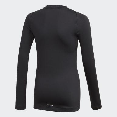 Camiseta manga larga Alphaskin AEROREADY Warming Negro Niño Training