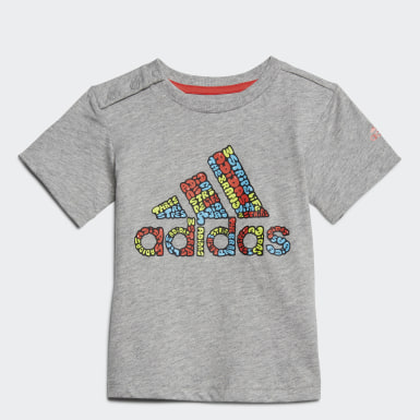 Kids Training Grey Logo T-Shirt