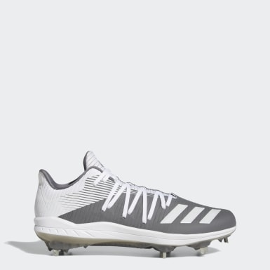 Men's Baseball Grey Adizero Afterburner 6 Cleats
