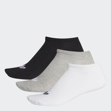 Originals สีขาว ถุงเท้า Trefoil Liner