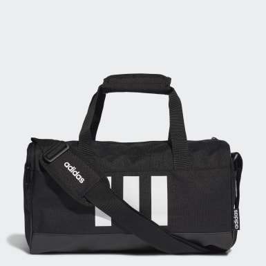 Lifestyle Black 3-Stripes Duffel Bag Extra Small