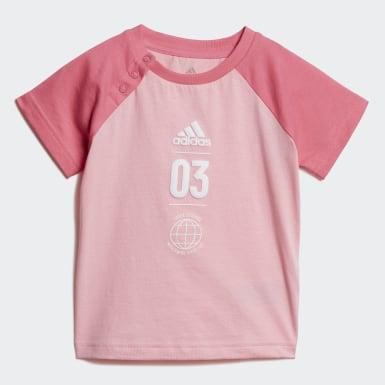 Girls Training Pink Summer Set