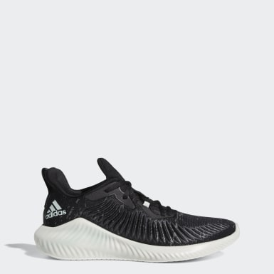 Men Running Black Alphabounce+ Run Parley Shoes